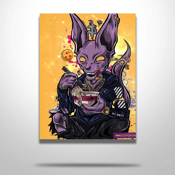 Beerus X Off White Poster