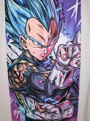 Vegeta SS God Blue WASHABLE AND REUSABLE FACE MASK COVER